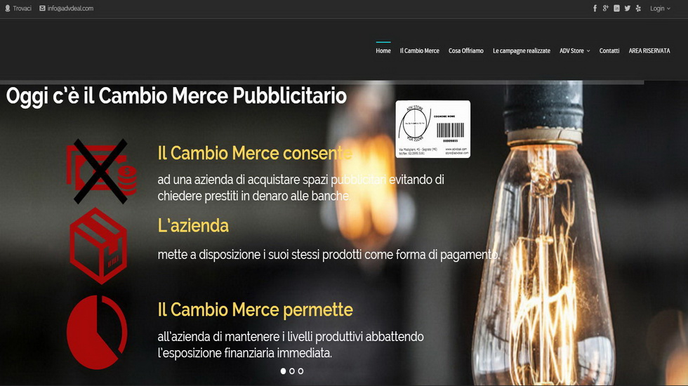 Adv Deal - Cambio Merce Pubblicitario