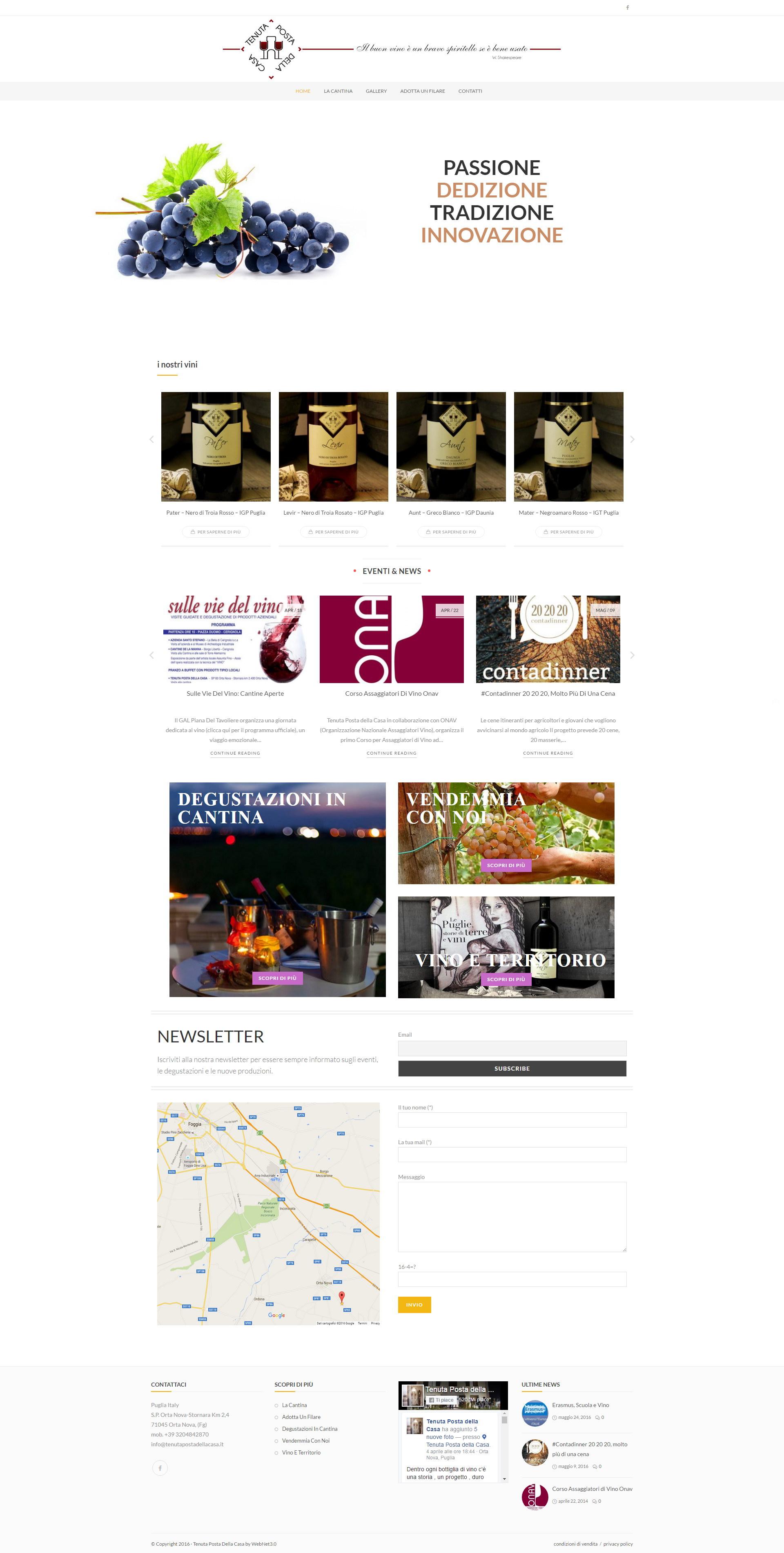 >Tenuta Posta della Casa - Azienda Vinicola