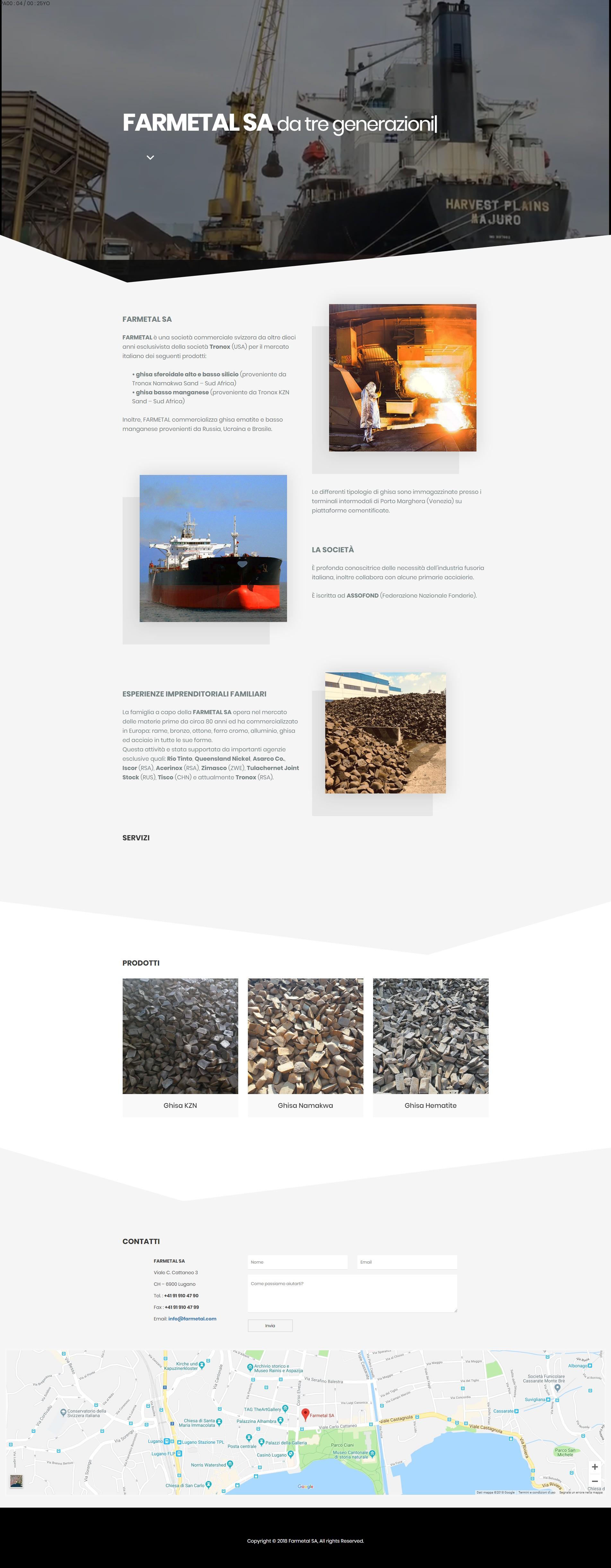 FARMETAL SA – Materie prime
